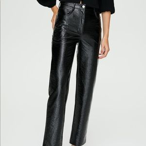 Shiny Vegan Leather Melina Pants